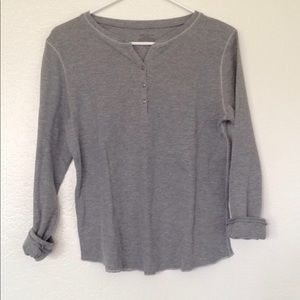Tops - Gray Thermal Henley